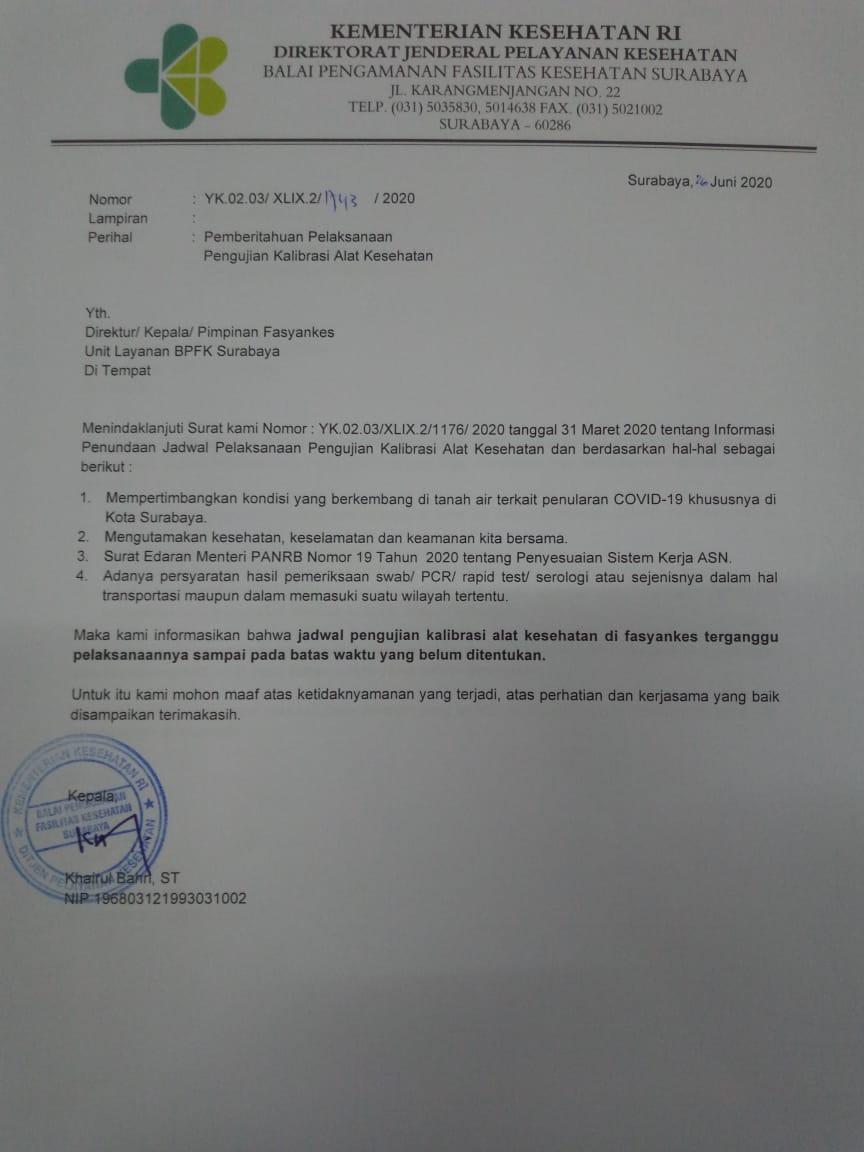 Bpfk Surabaya Balai Pengamanan Fasilitas Kesehatan Surabaya